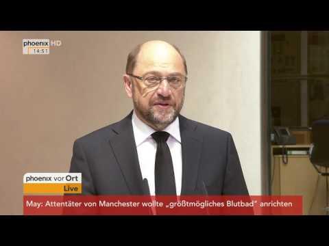 Anschlag Manchester: Statement von Martin Schulz am 23.05.2017