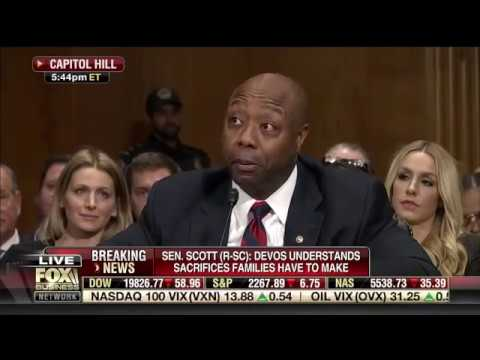 Senator Scott Introduces Education Secretary Nominee DeVos in HELP Committee