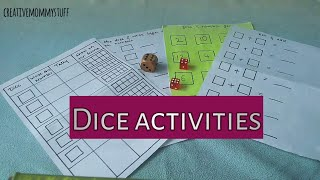 5 DIY dice math activities and worksheets