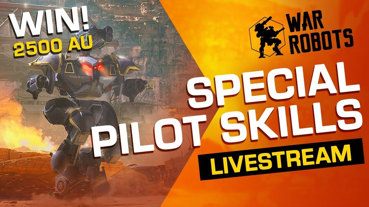 War Robots Giveaway (Live) | Special Pilot Skills (with Adrian)
