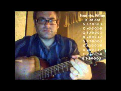 How to play Another Saturday Night by Sam Cooke on acoustic guitar