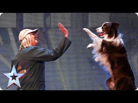 Catch Jules and Matisse the dog in action | Britains Got Talent 2015