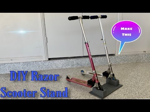 DIY Scooter Stand For Razor  Scooters