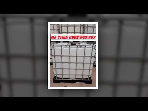 Bồn đựng hóa chất 1000 lít, bồn nhựa vuông 1000 lít có khung thép - YouTube