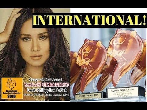WINNER! Sarah Geronimo wins an INTERNATIONAL award - Golden Panther Awards 2018 - 동영상