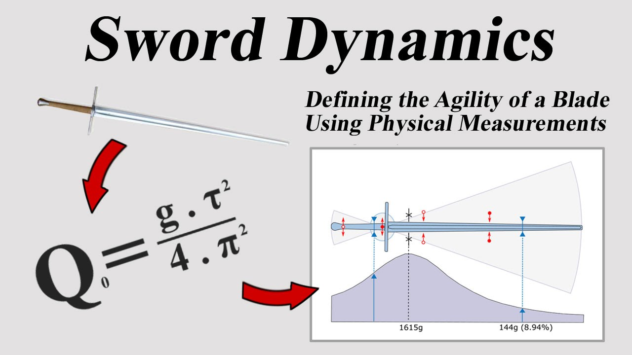 hight resolution of sword dynamics defining the agility of a blade using physical measurements
