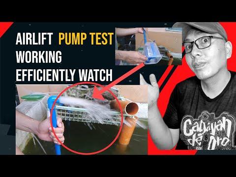 air lift pump diy testing its output