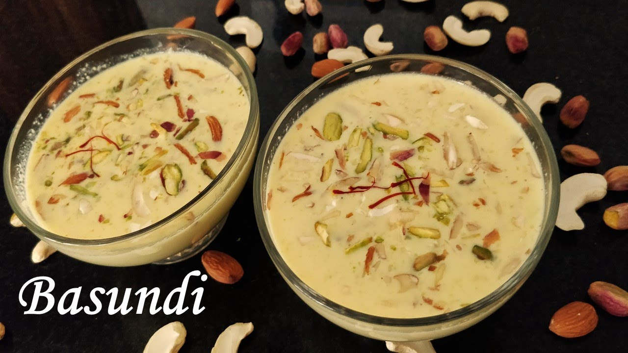 Basundi Recipe Indian Sweet Dessert With Milk Must Try Youtube