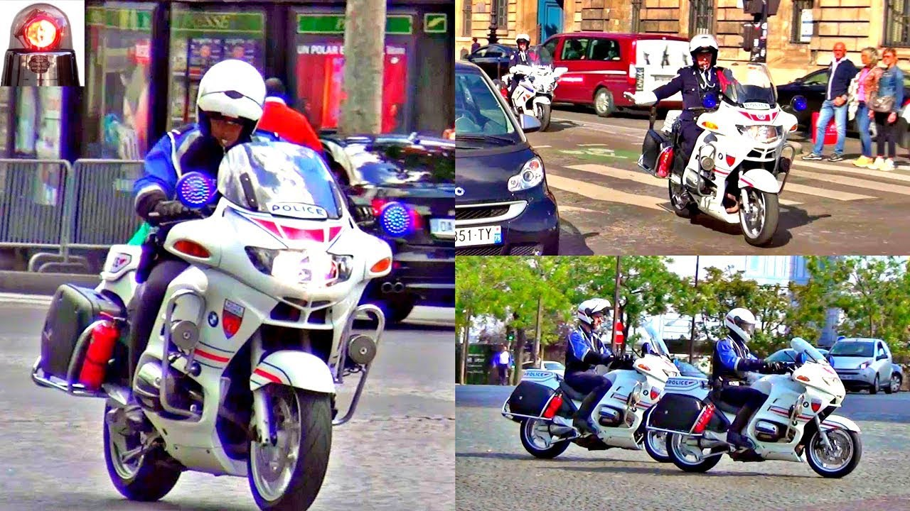Compilation Police Motorcycles Responding Lights And