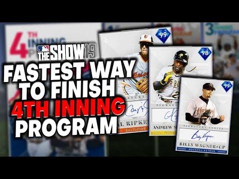 FASTEST Way To Finish 4th Inning Program! MLB The Show 19 Diamond Dynasty