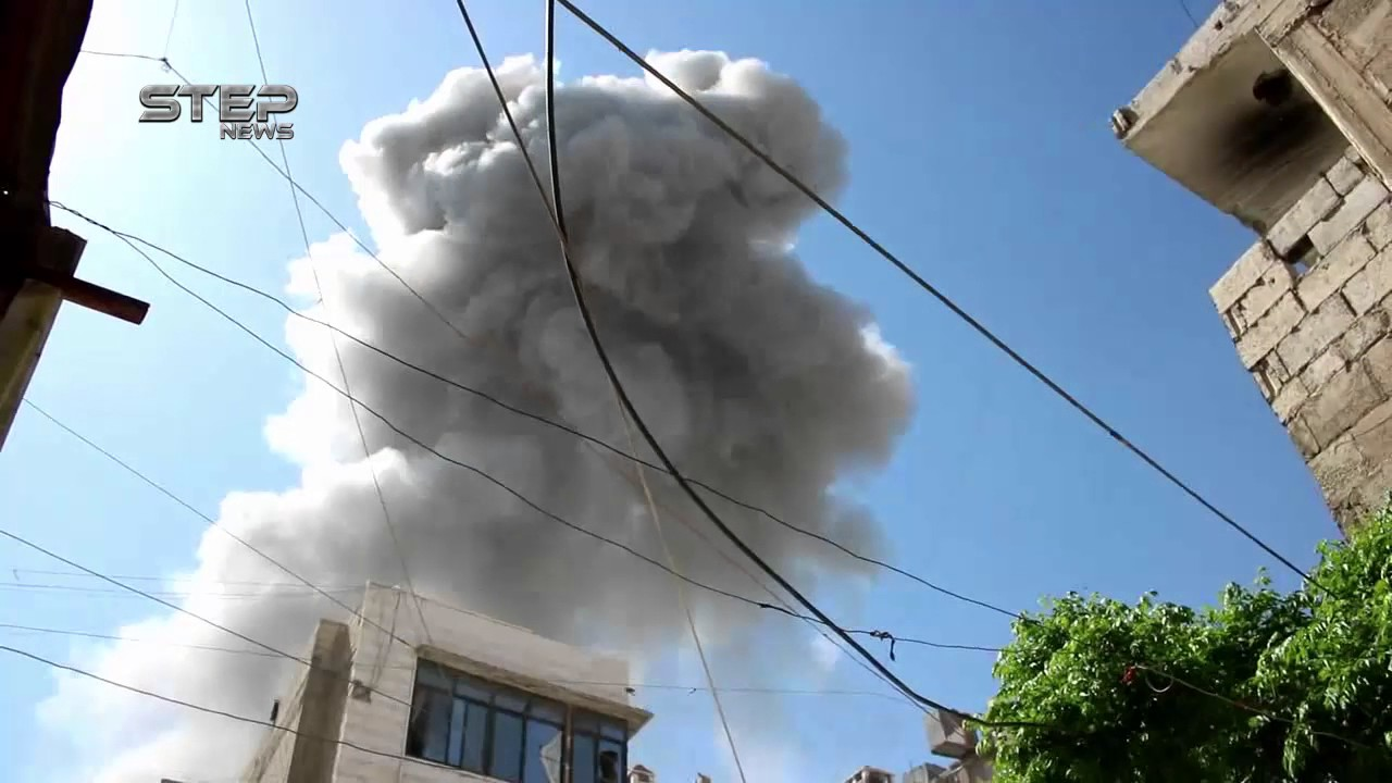 Many airstrikes today on Eastern Ghouta