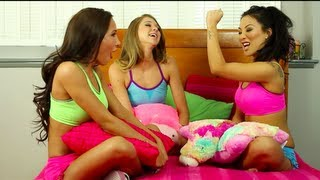 Download Video What Guys THINK Girls Do at Sleepovers - Amia Miley, Asa Akira, and Jessie Andrews MP3 3GP MP4