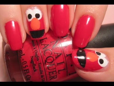 Tutorial: Elmo Nails