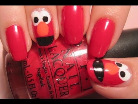 Tutorial Elmo Nails Youtube