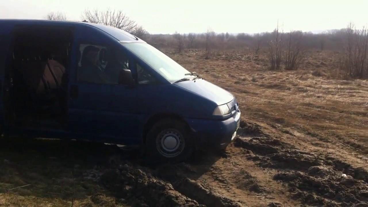 Проходимость Fiat Scudo 1.9D по бездорожью...