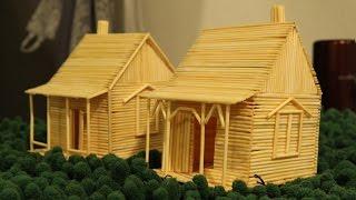 Hacer una casa usando palillos de dientes