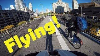 cyclist hits pedestrian in bike lane vlog 6