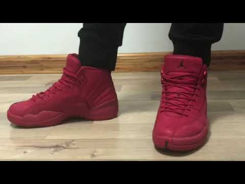 2018 Jordan 12 Gym Red on foot from