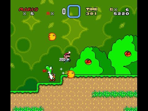 Speedrun through Super Mario World without finishing the first level