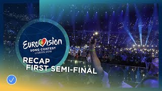 Recap of all the songs performed at the first Semi-Final of the 2018 Eurovision Song Contest