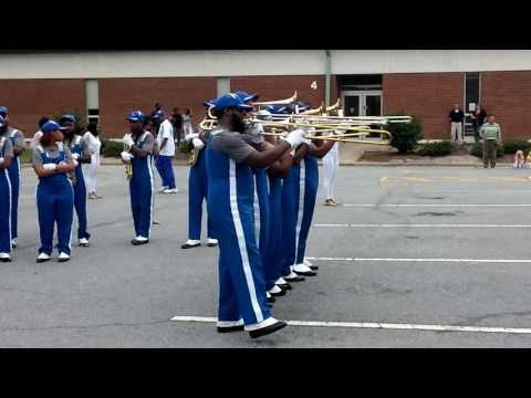 Elizabeth City State Univ Band performs at Martin Community College in Williamston, NC