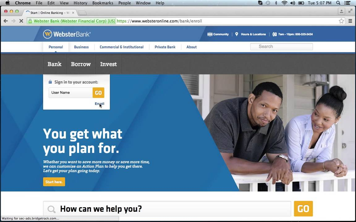webster bank hsa account login