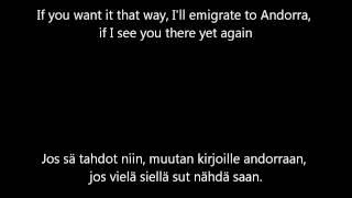 Jippu & Samuli Edelmann - Jos sä tahdot niin [English & Finnish lyrics]