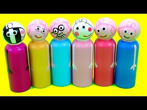 Peppa Pig Preschool Wooden Toy Surprises with the Finger Family Song