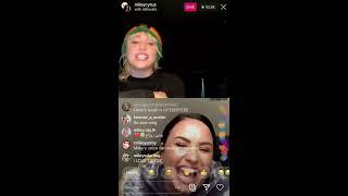 Miley Cyrus & Demi Lovato - Instagram Live Stream - 3/17/2020