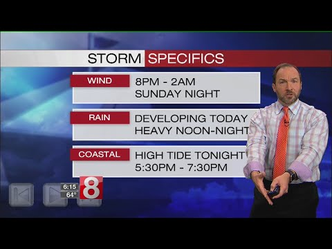 Latest Weather Update: Connecticut preparing for strong winds, heavy rain