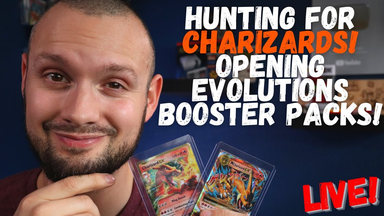 Opening 15 Pokemon Evolutions Booster Packs LIVE | On The Hunt for Charizard!