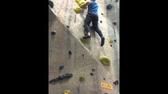Louis rock climbing Upper Limits