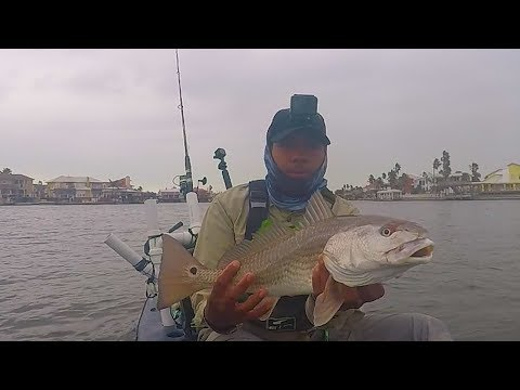Kayak Fishing For Redfish In The Extreme Cold - Corpus Christi Texas