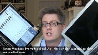 Retina MacBook Pro vs MacBook Air - Hat sich der Wechsel gelohnt?(Retina MacBook Pro vs MacBook Air - Hat sich der Wechsel gelohnt? Vor 2 Monaten, kurz vor der IFA, hat sich mir die Gelegenheit geboten, das aktuelle Apple ..., 2015-10-24T12:17:20.000Z)