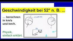 Bahngeschwindigkeit der Menschen auf der Erde bei 52° nördlicher Breite berechnen