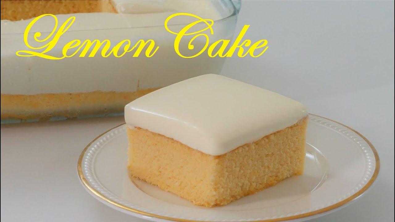 Easy Lemon Cake 2-Ingredient Condensed Milk Frosting