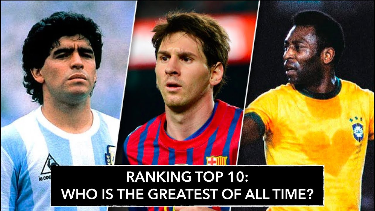 Top 10 Football Players in History · Ranking from WORST TO BEST