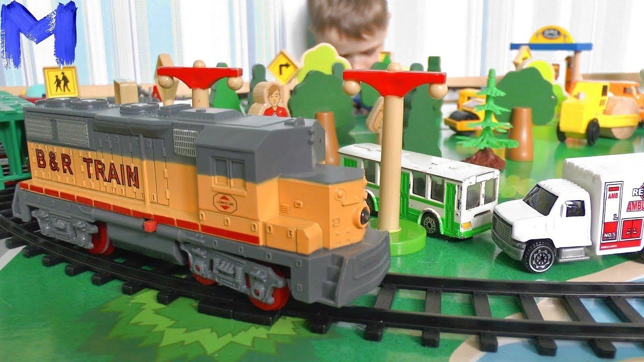 Игрушечная Железная дорога Машинки и Поезд для детей