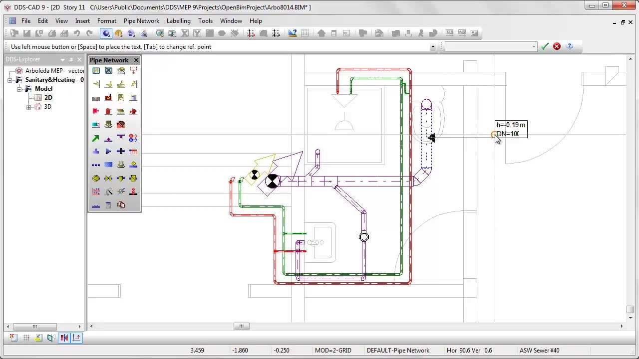 Dds Cad Intelligent Planning Of Sanitary Systems Youtube Piping Layout Plan