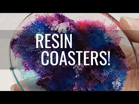 Resin and Alcohol Ink Coaster Tutorial