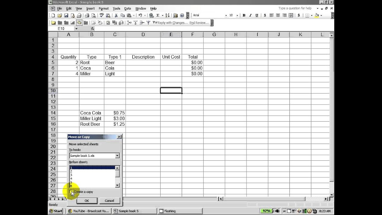 Excel How To Use The Move Or Copy Function For