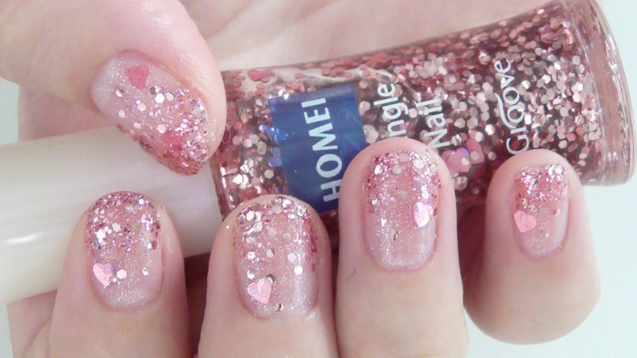グリッターグラデーションネイル♡簡単セルフネイル/glitter gradient nail , YouTube