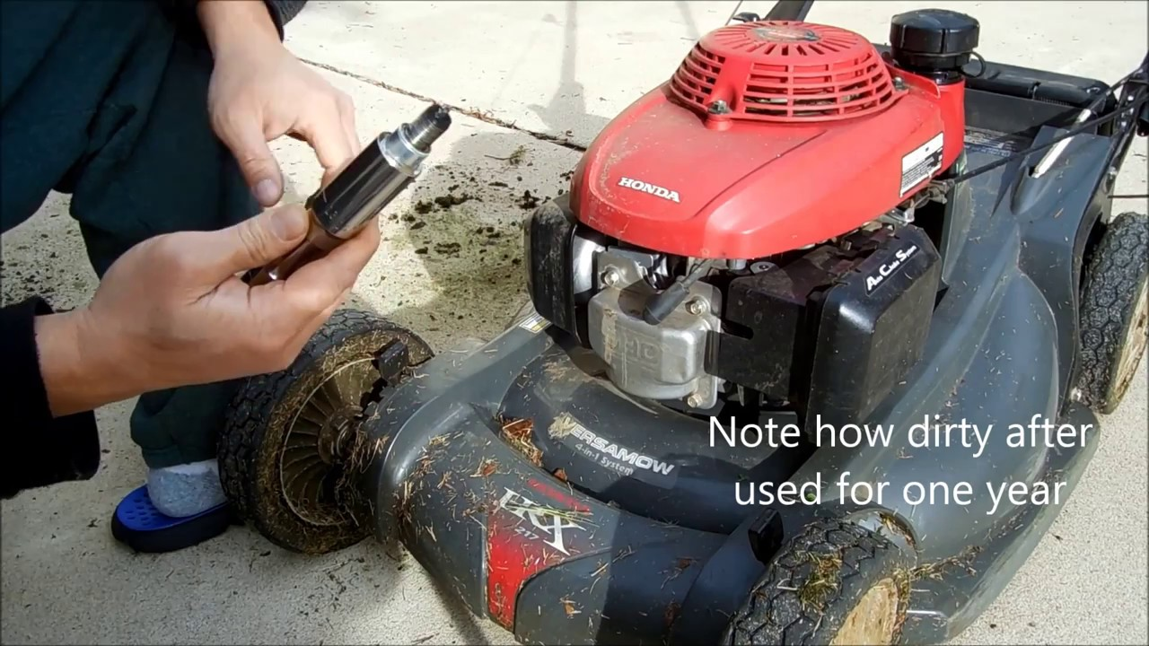How to change spark plug for Honda lawn mower HRX217VKA  Honda Mower  maintenance