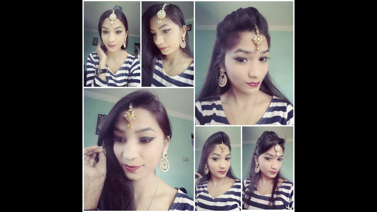 6 Easy Hairstyle For Wedding / Hairstyle With Maang Tikka /How To Wear  Bindi or Tikka