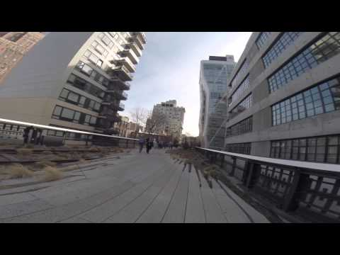 Running High Line Park in New York City