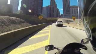 POV fast motorcycle ride/ point of view 1080p/60fps GoPro Hero 3
