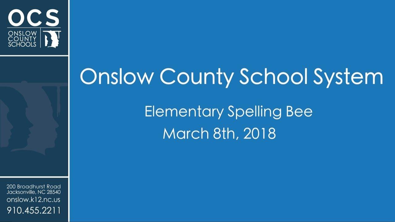Elementary School Spelling Bee 2018