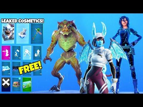 *NEW* Skins & Emotes..! (FREE Rewards, Monster Skin, Minty Elf LEAKED) Fortnite Battle Royale