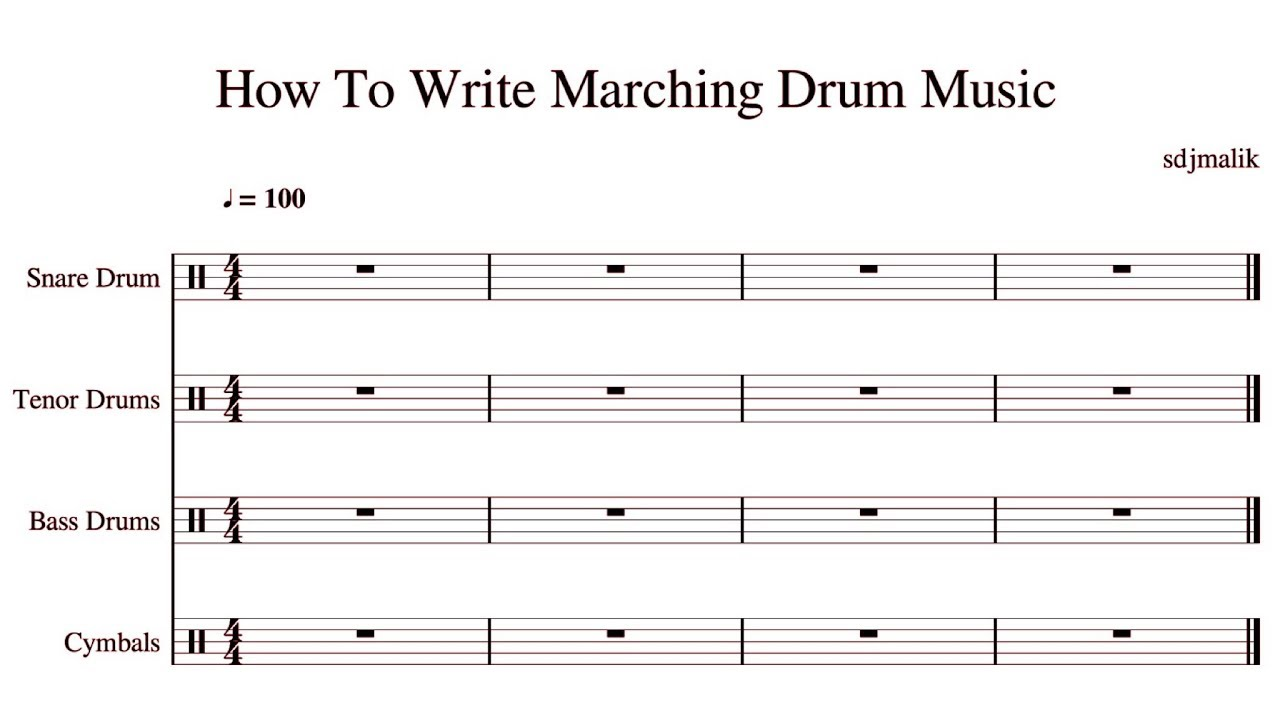 Muse Score 2 Tutorial | Writing Marching Drum Music