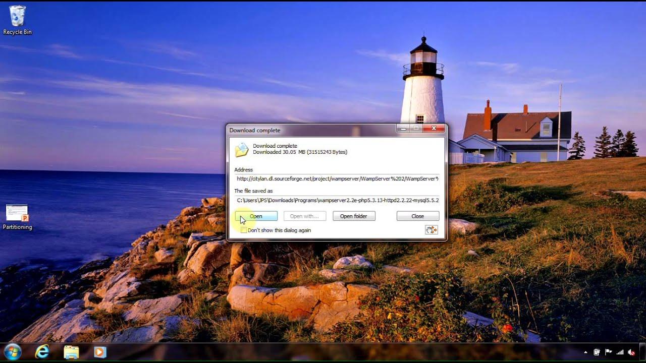 wamp server 2 2e 64-bit installation in windows 7 ultimate 64 bit
